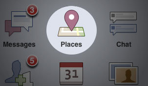 Check In with Facebook Places